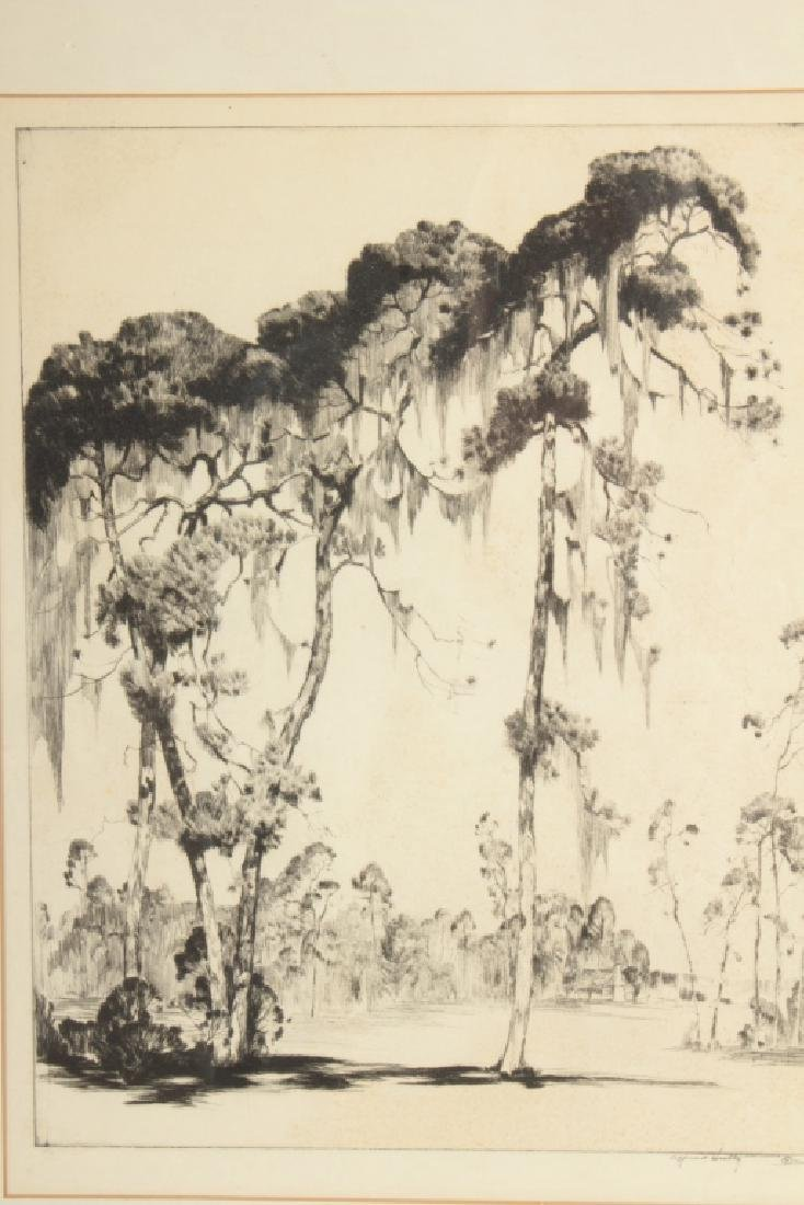 "Alfred Hutty, Am. ""Carolina Pines"" 1935, drypoint - 2"