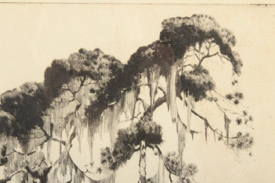 "Alfred Hutty, Am. ""Carolina Pines"" 1935, drypoint - 3"