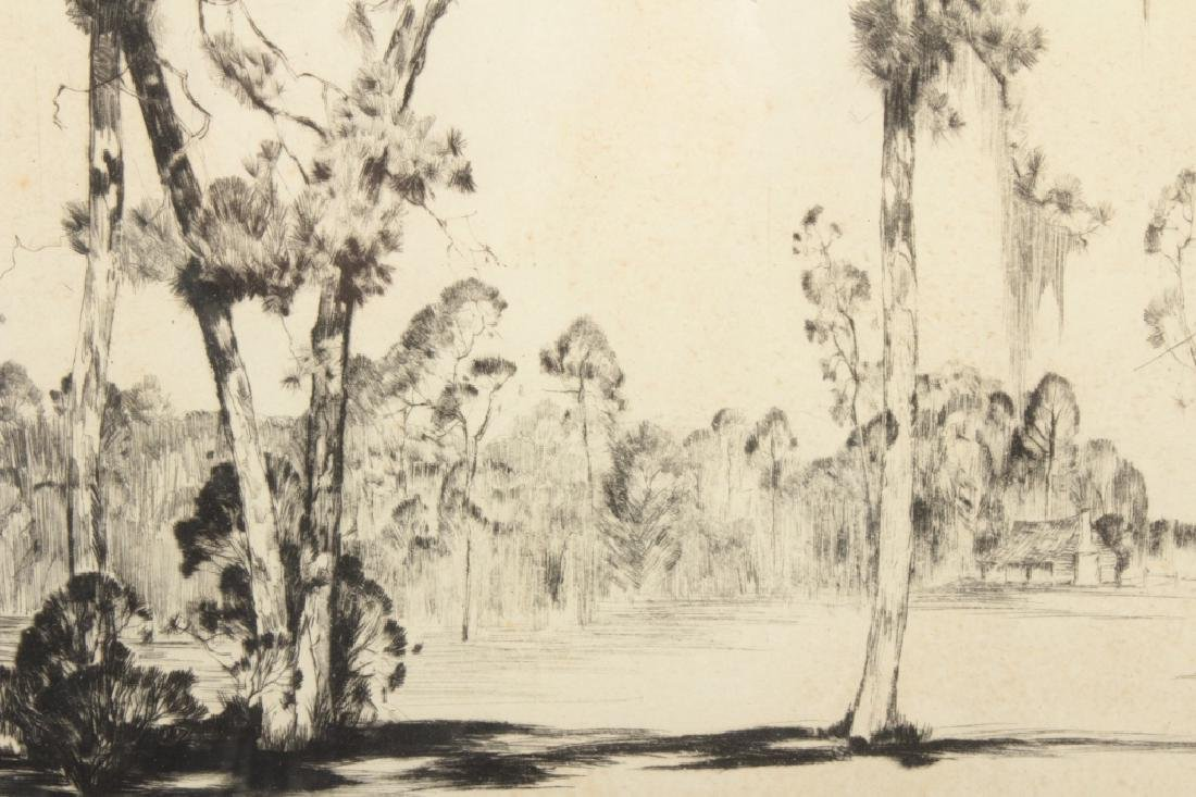 "Alfred Hutty, Am. ""Carolina Pines"" 1935, drypoint - 4"