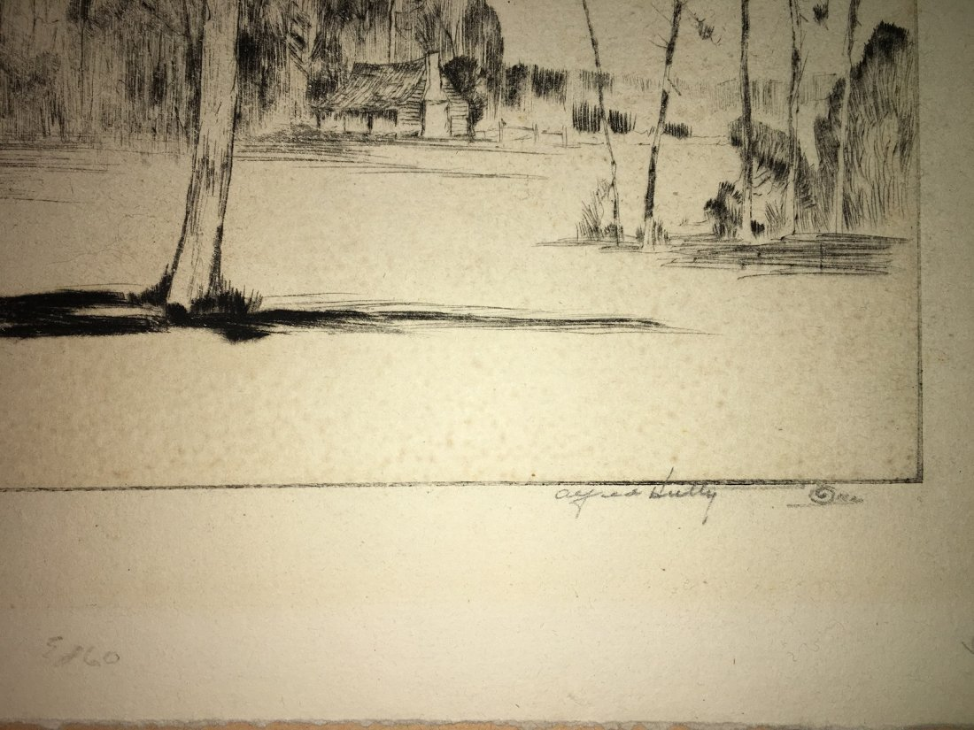 "Alfred Hutty, Am. ""Carolina Pines"" 1935, drypoint - 8"