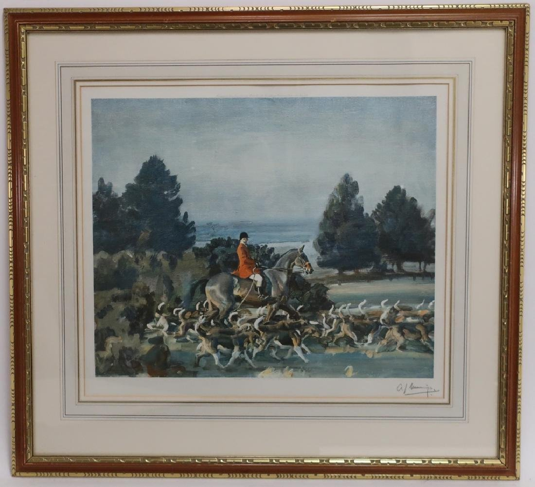 Alfred Munnings, UK, Fox Hunt, Signed Lithograph