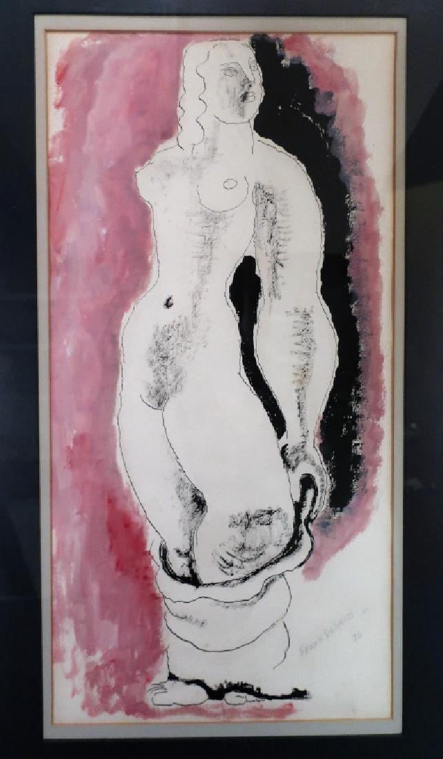 Frank Dobson, UK, 1888-1963, Nude , W/C, 1936