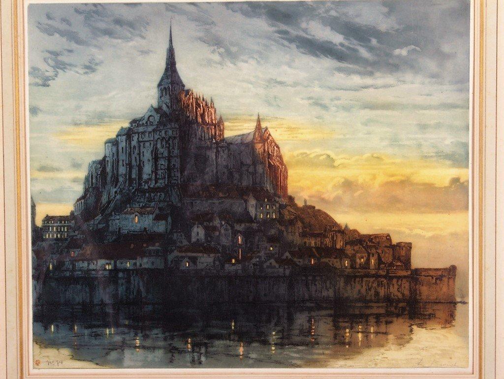 Auguste Brouet 1872-1941 Mont St. Michel, Etching - 2