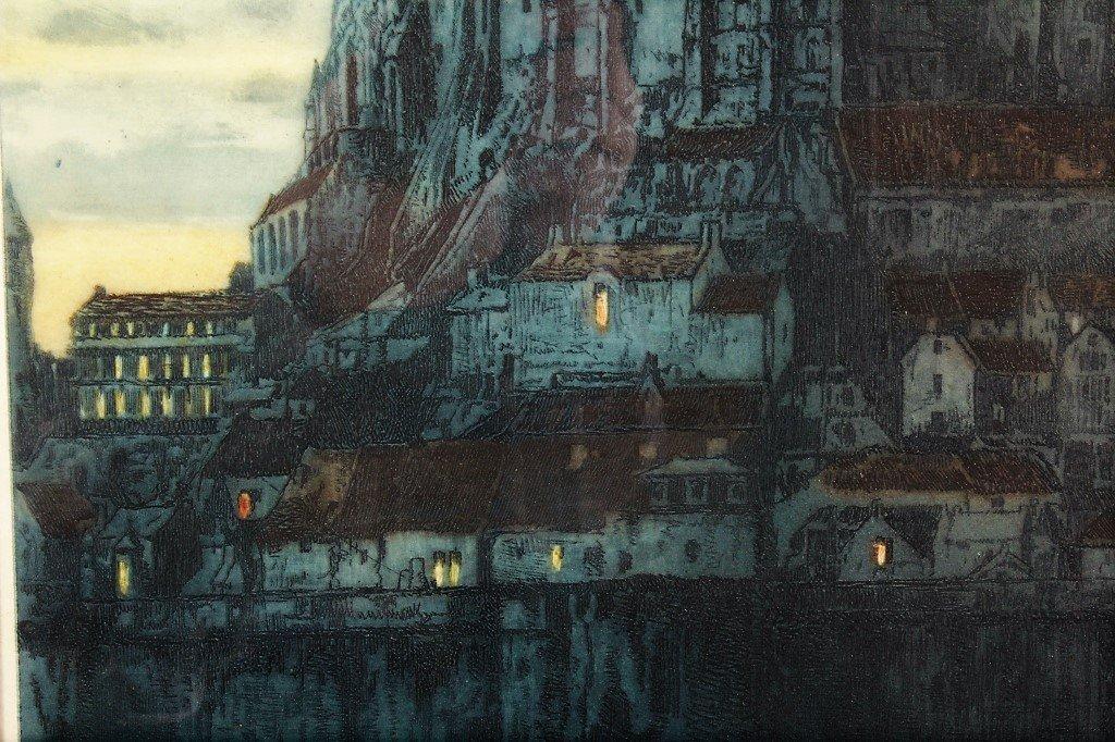 Auguste Brouet 1872-1941 Mont St. Michel, Etching - 4