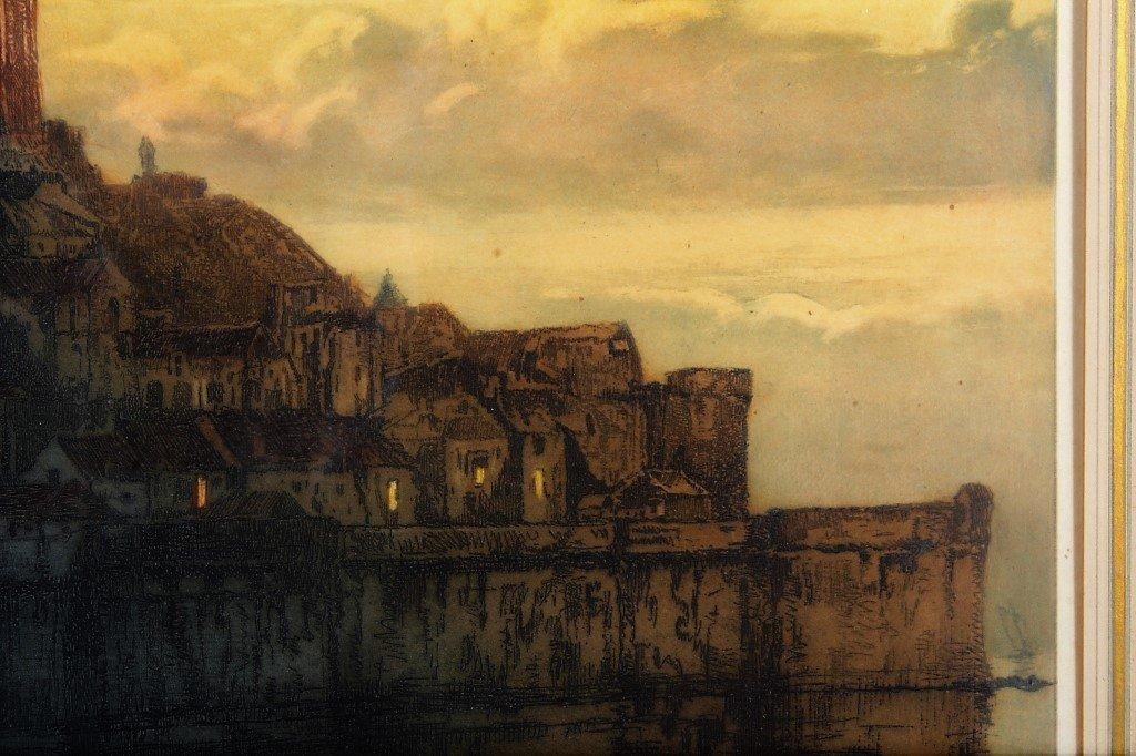 Auguste Brouet 1872-1941 Mont St. Michel, Etching - 5