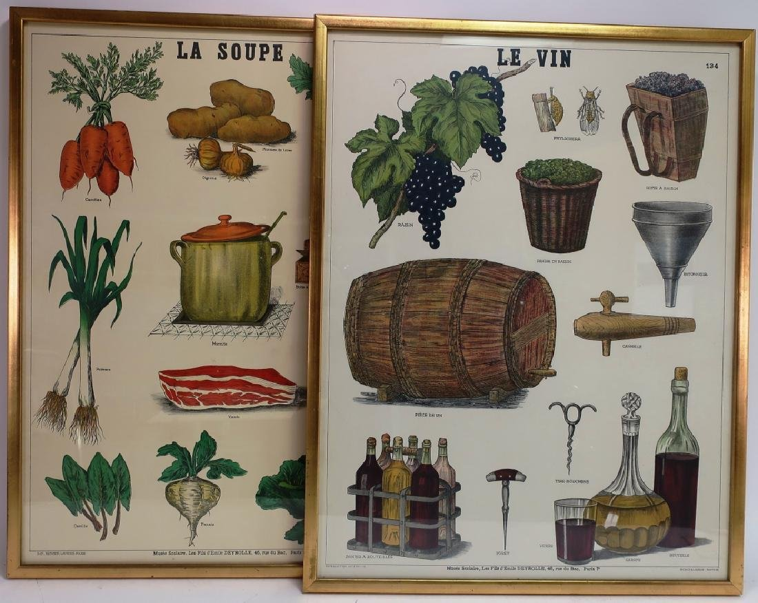 Pr. French School Posters: Wine & Soup. c. 1900