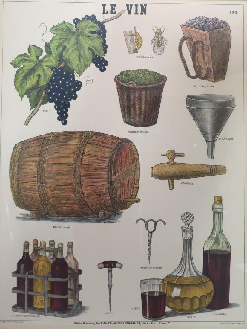 Pr. French School Posters: Wine & Soup. c. 1900 - 3
