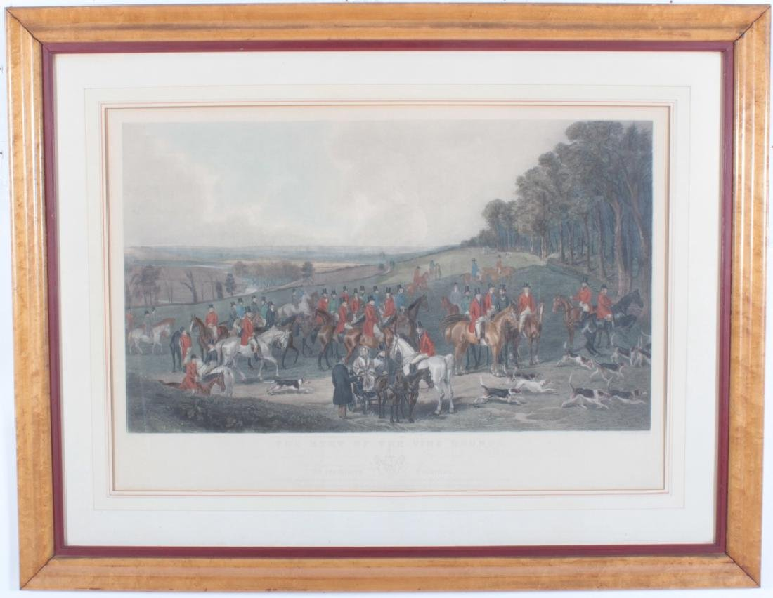 "Simmons ""Meet of the Vine Hounds"" 1844 Print"