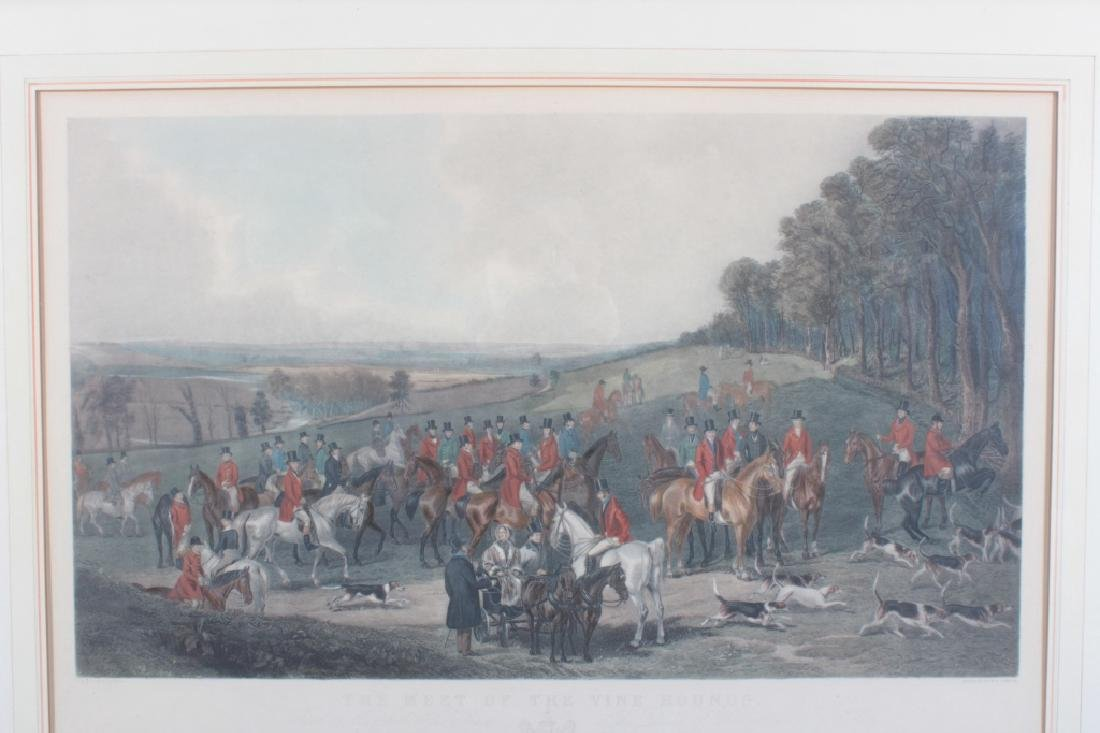 "Simmons ""Meet of the Vine Hounds"" 1844 Print - 3"