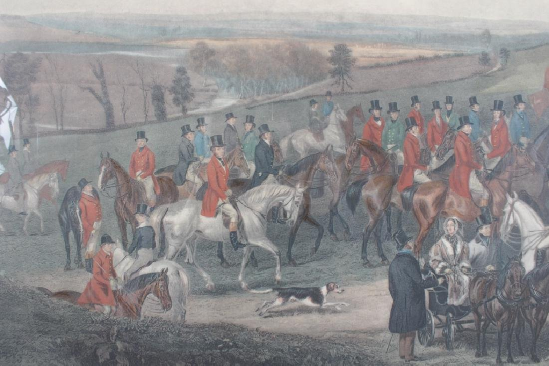 "Simmons ""Meet of the Vine Hounds"" 1844 Print - 6"