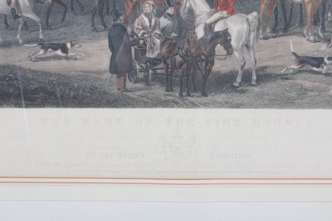 "Simmons ""Meet of the Vine Hounds"" 1844 Print - 7"