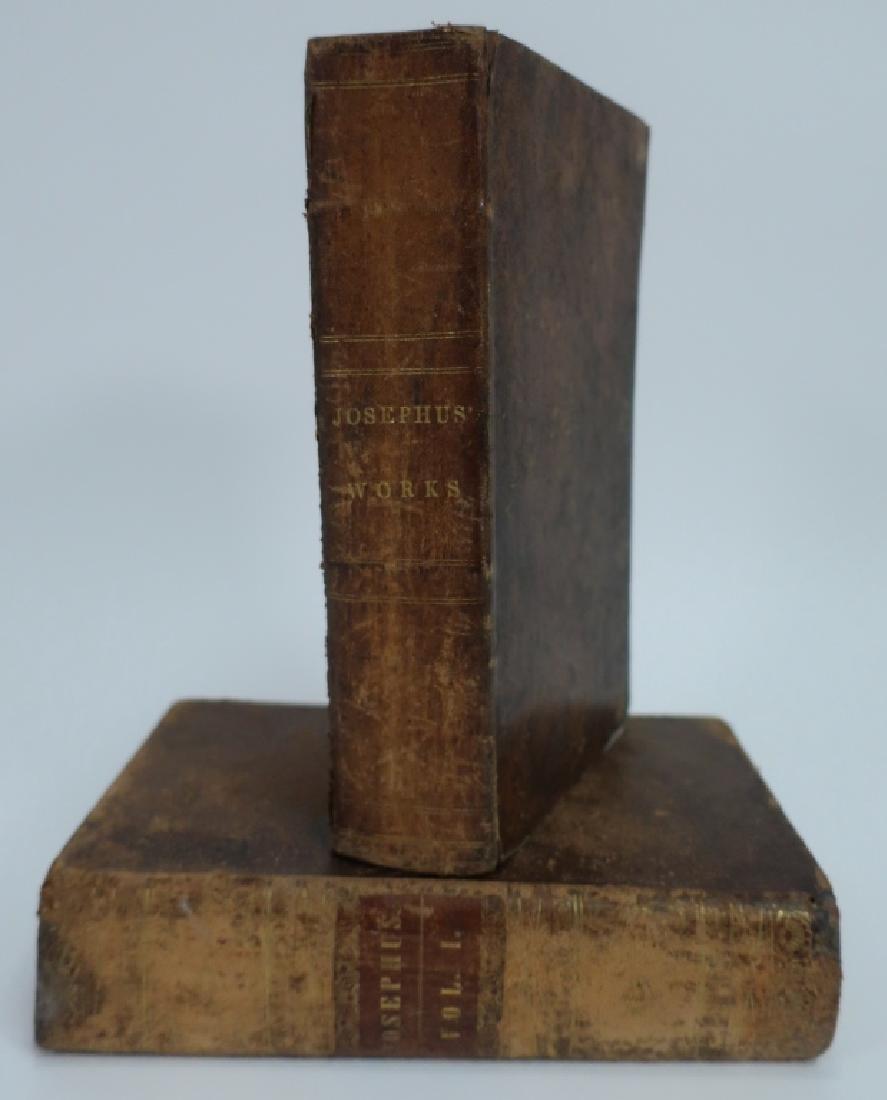 Josephus, 2 Volumes Leatherbound Judaica 1832,35