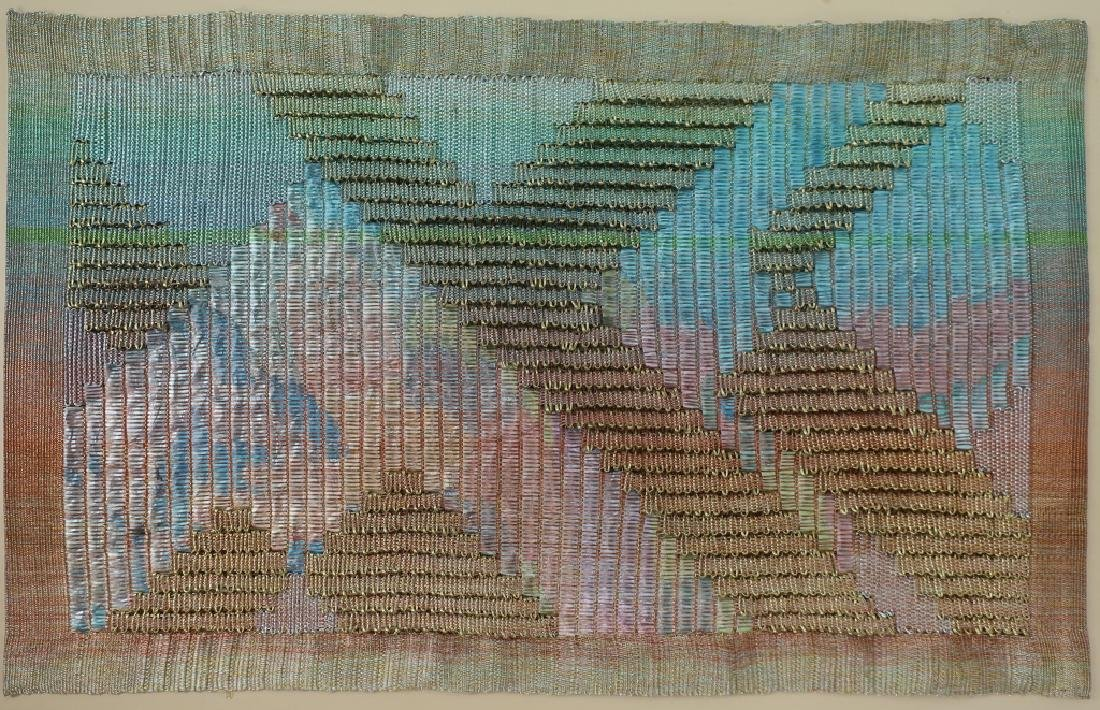 Lot of 3: Triptych, Abstract Textile Art, 20th c. - 2