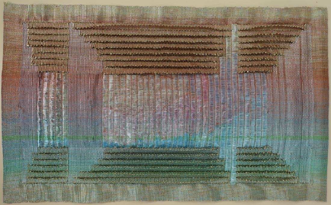 Lot of 3: Triptych, Abstract Textile Art, 20th c. - 4