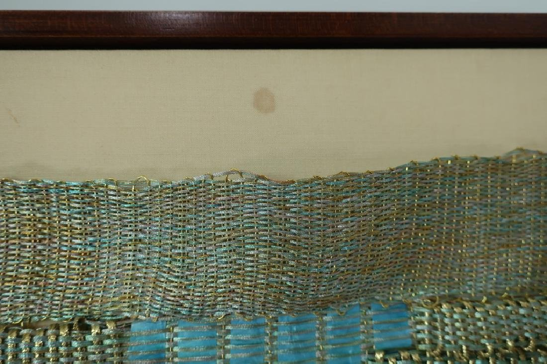 Lot of 3: Triptych, Abstract Textile Art, 20th c. - 9
