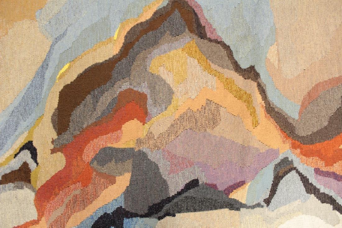 "Doris Bally ""Big Sur II"" Wool Tapestry, 20th c."