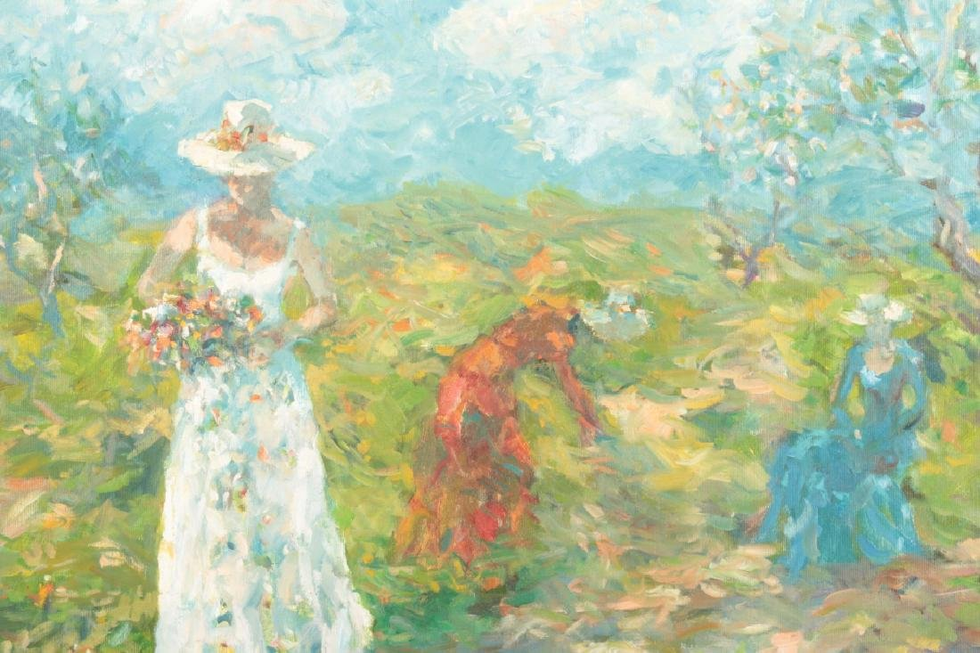 3 Women Picking Flowers, o/c - 2