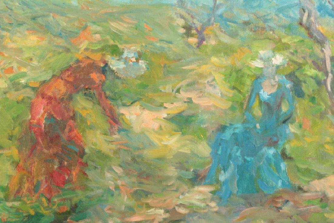 3 Women Picking Flowers, o/c - 4