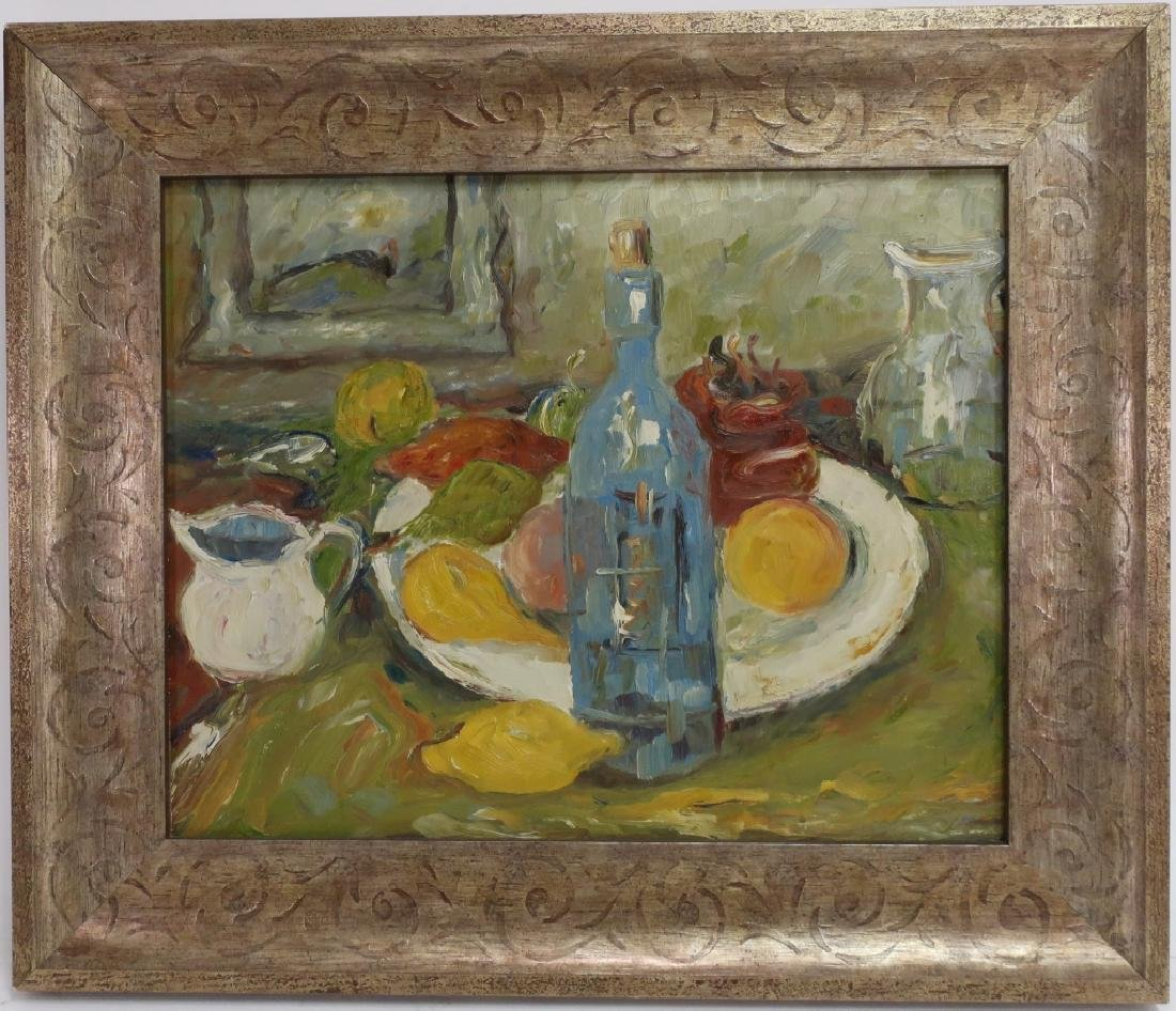 Am. Sch., 20th c., Impressionist Still Life, O/B