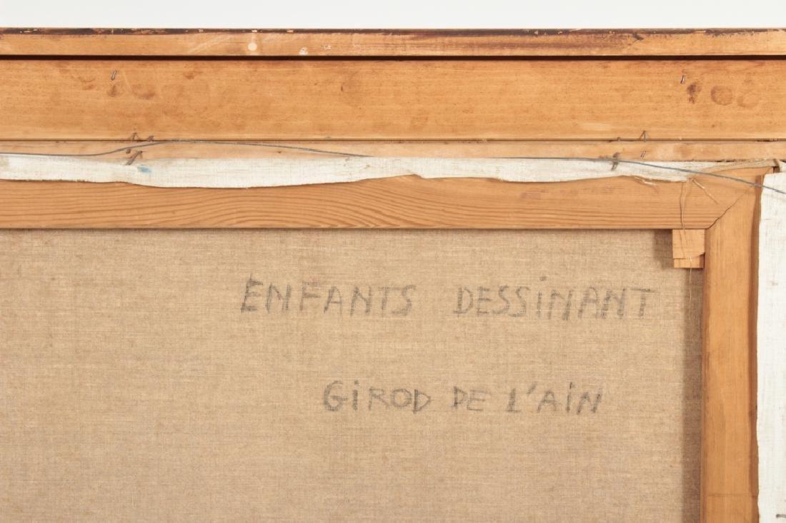 "Girod De L'Ain, Fr., ""Enfants Dessinant"", O/C - 7"