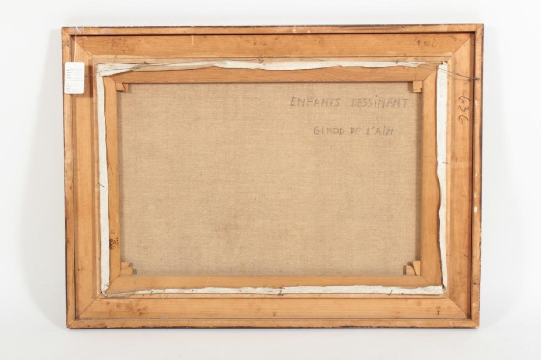 "Girod De L'Ain, Fr., ""Enfants Dessinant"", O/C - 8"