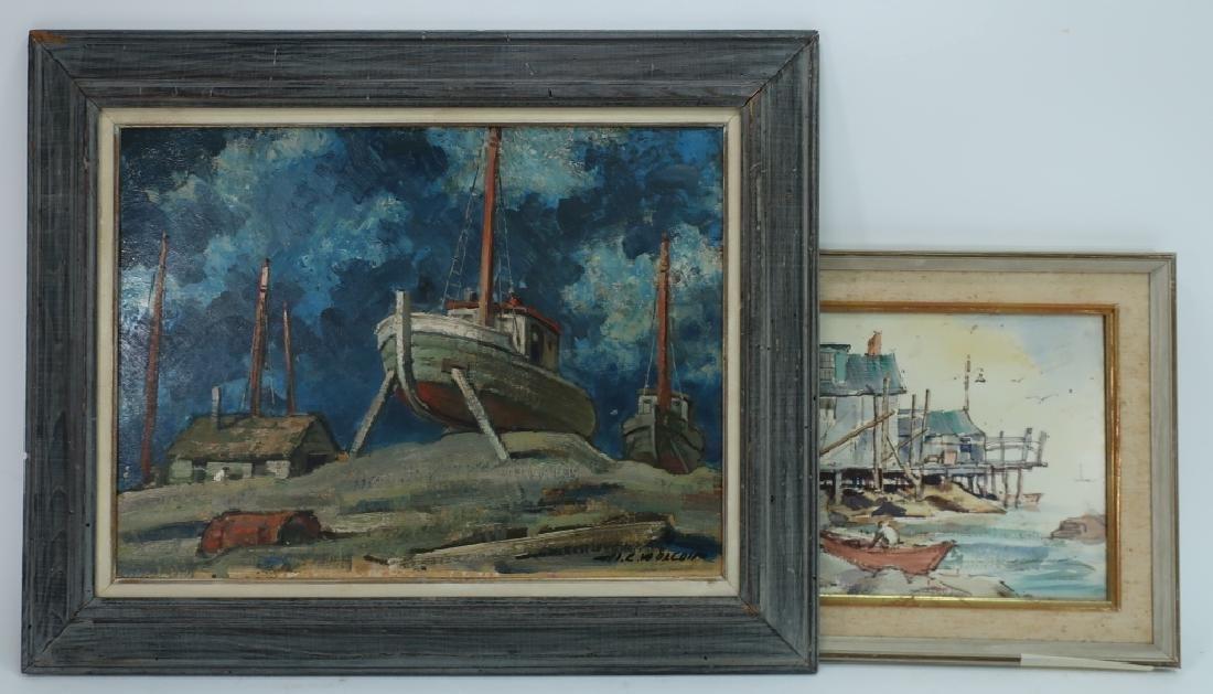 Harold C. Wolcott, Am., Low Tide, O/B & print