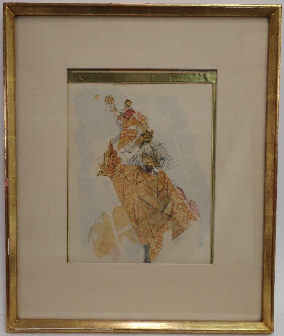 Jacques Villon, Fr. 3 Magi w Gifts Etching 1947