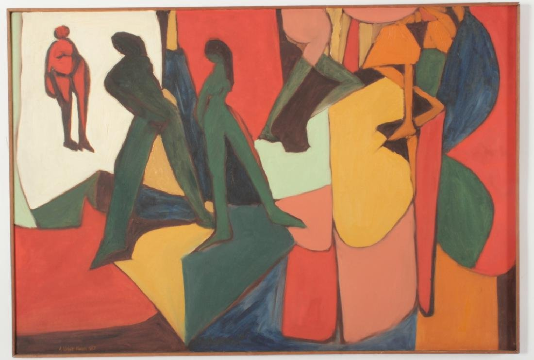 Arnold Weber, Am., Abstract People - 2