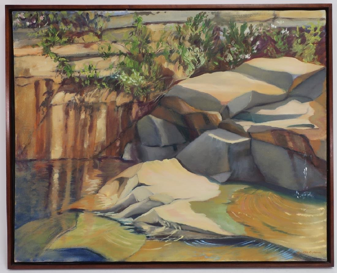 Judith Evans, Landscape, O/C, 20th c.
