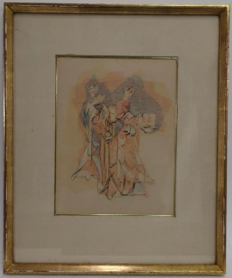 Jacques Villon, Fr. Magi from The Back, Etching