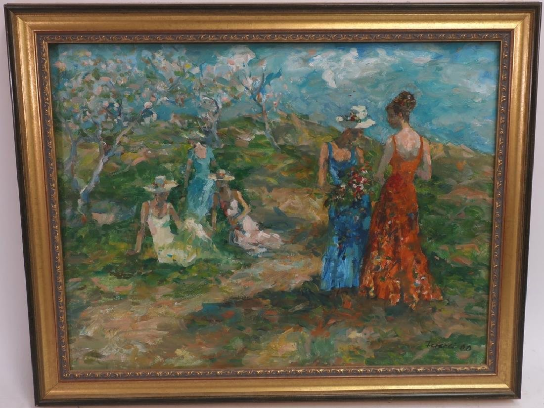 Women in an Orchard, 20/21st C.