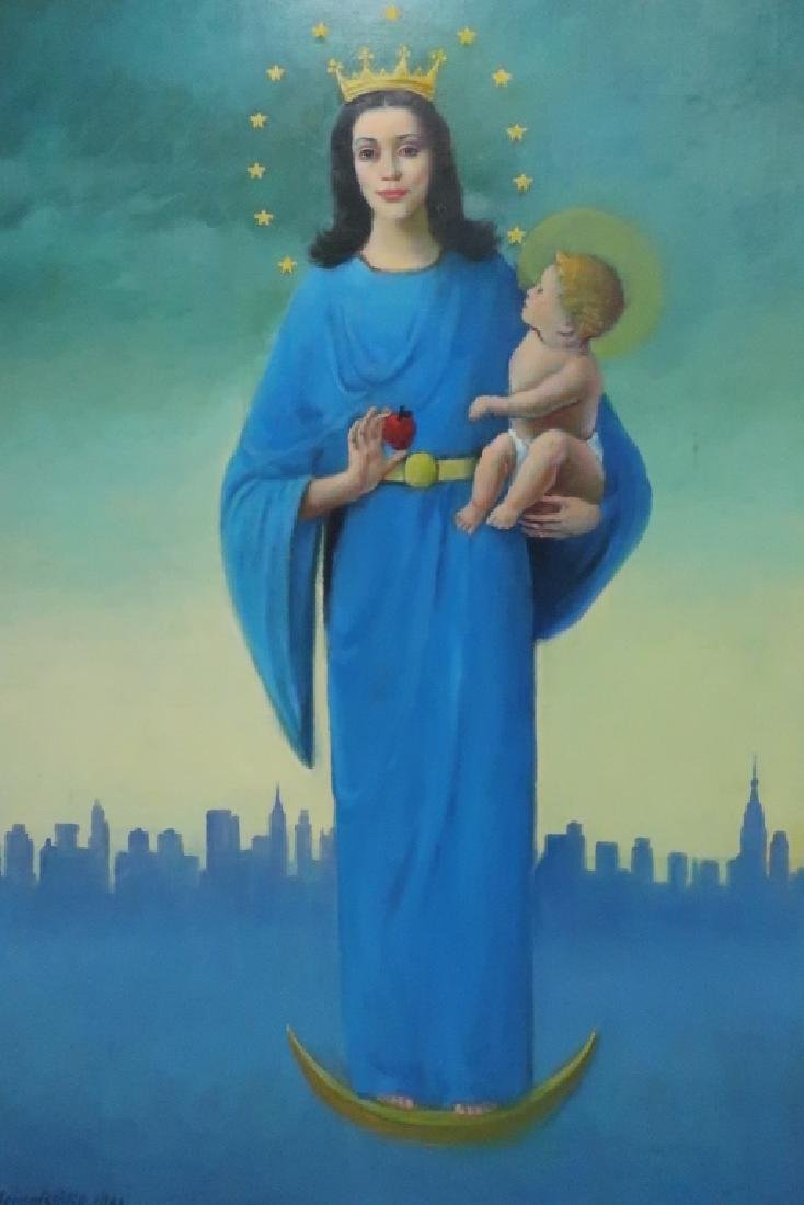 Rudolph Bernatschke, Au./Am,Madonna and Child, O/C