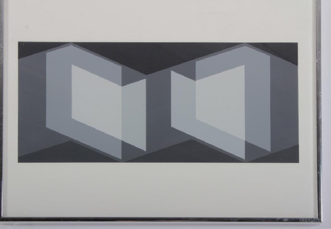 Albers, 2 Silkscreens, Grey/Yellow Geometric - 2