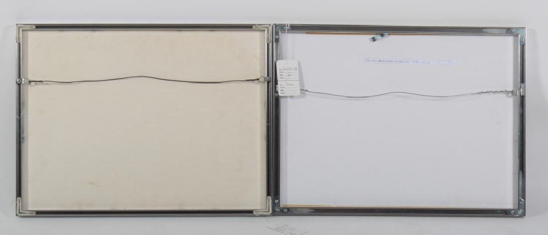 Albers, 2 Silkscreens, Grey/Yellow Geometric - 4