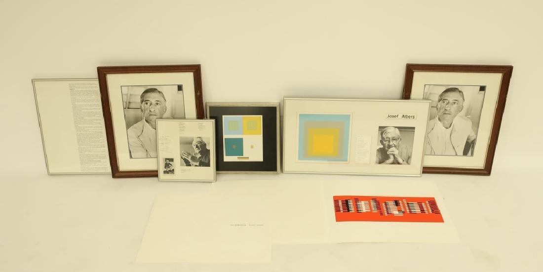 Josef Albers,Signed Title Page,3 Silkscreens