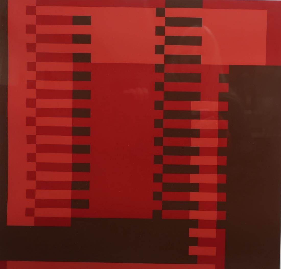 Albers, 2 Silkscreens, Red/Brown Geometric Forms