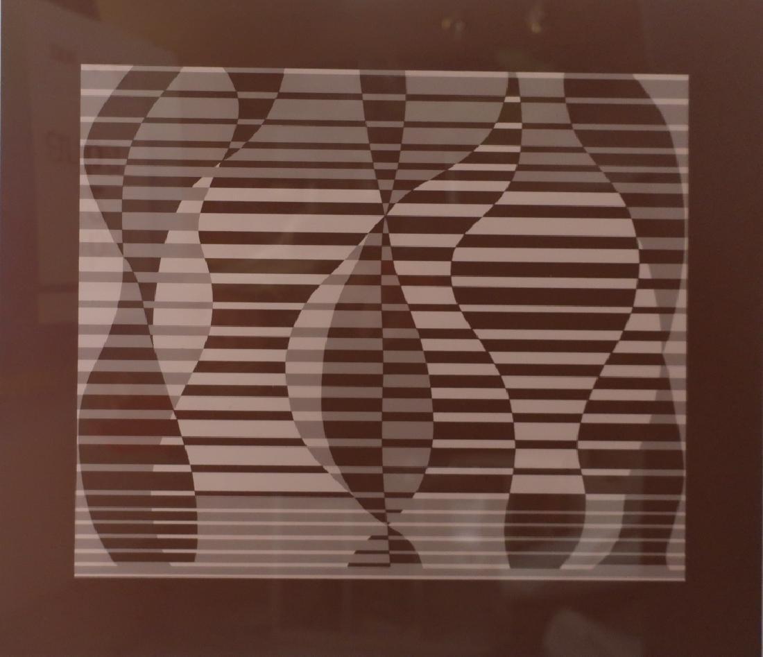 Albers, 2 Silkscreens, Red/Brown Geometric Forms - 2
