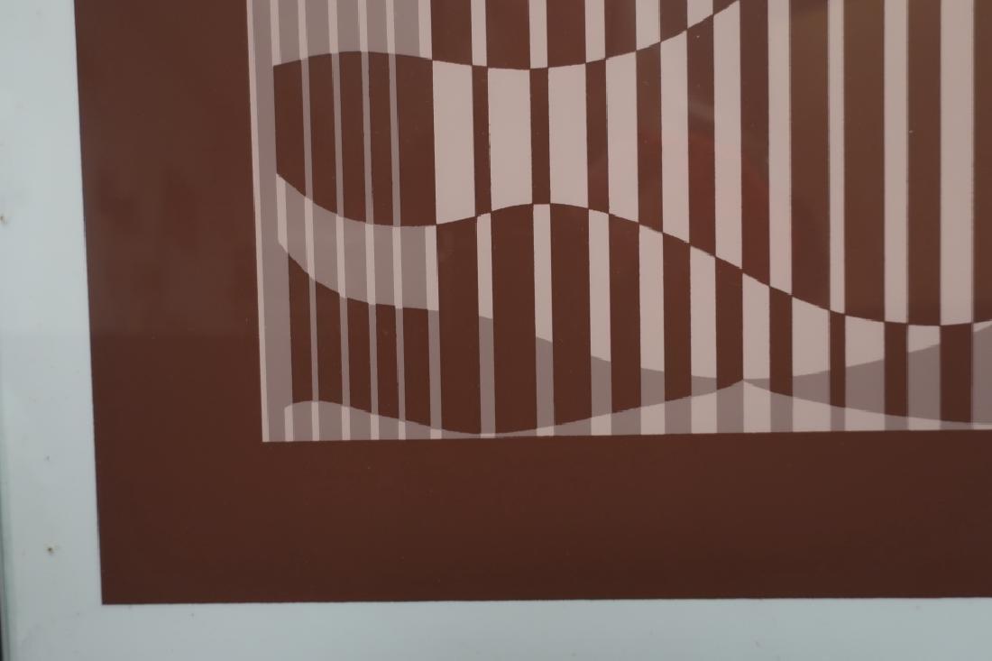 Albers, 2 Silkscreens, Red/Brown Geometric Forms - 4