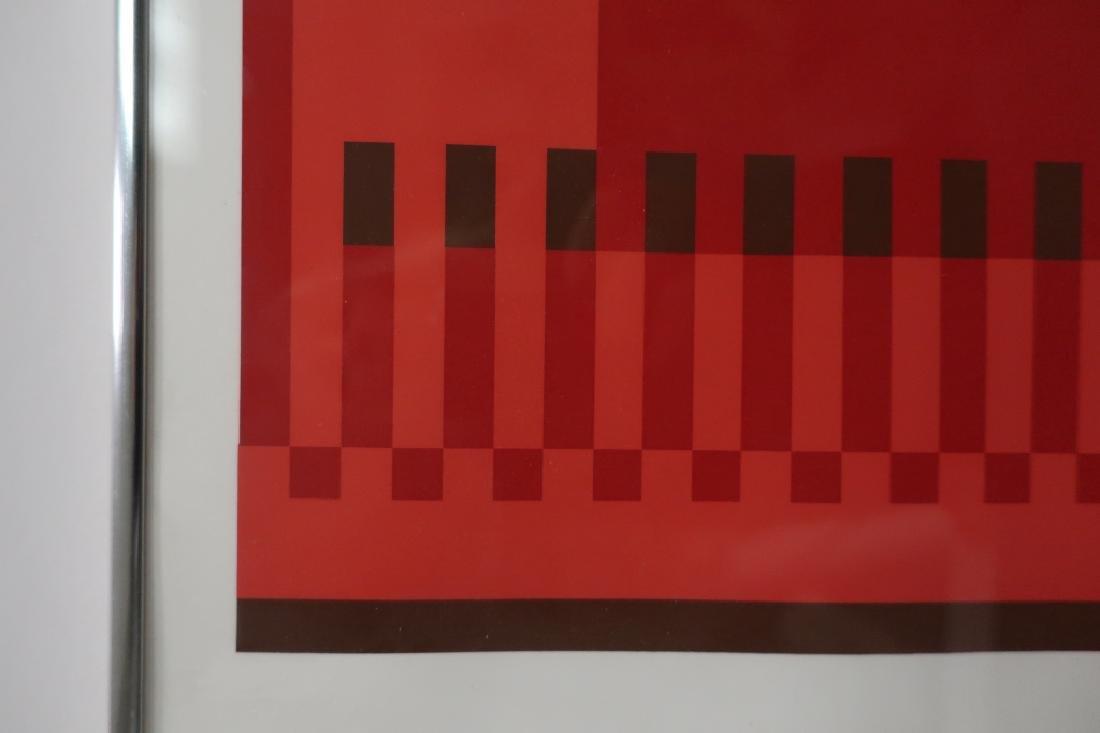 Albers, 2 Silkscreens, Red/Brown Geometric Forms - 5