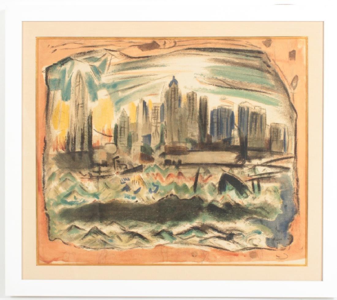 John Marin, Am., Lower Manhattan..,screen print