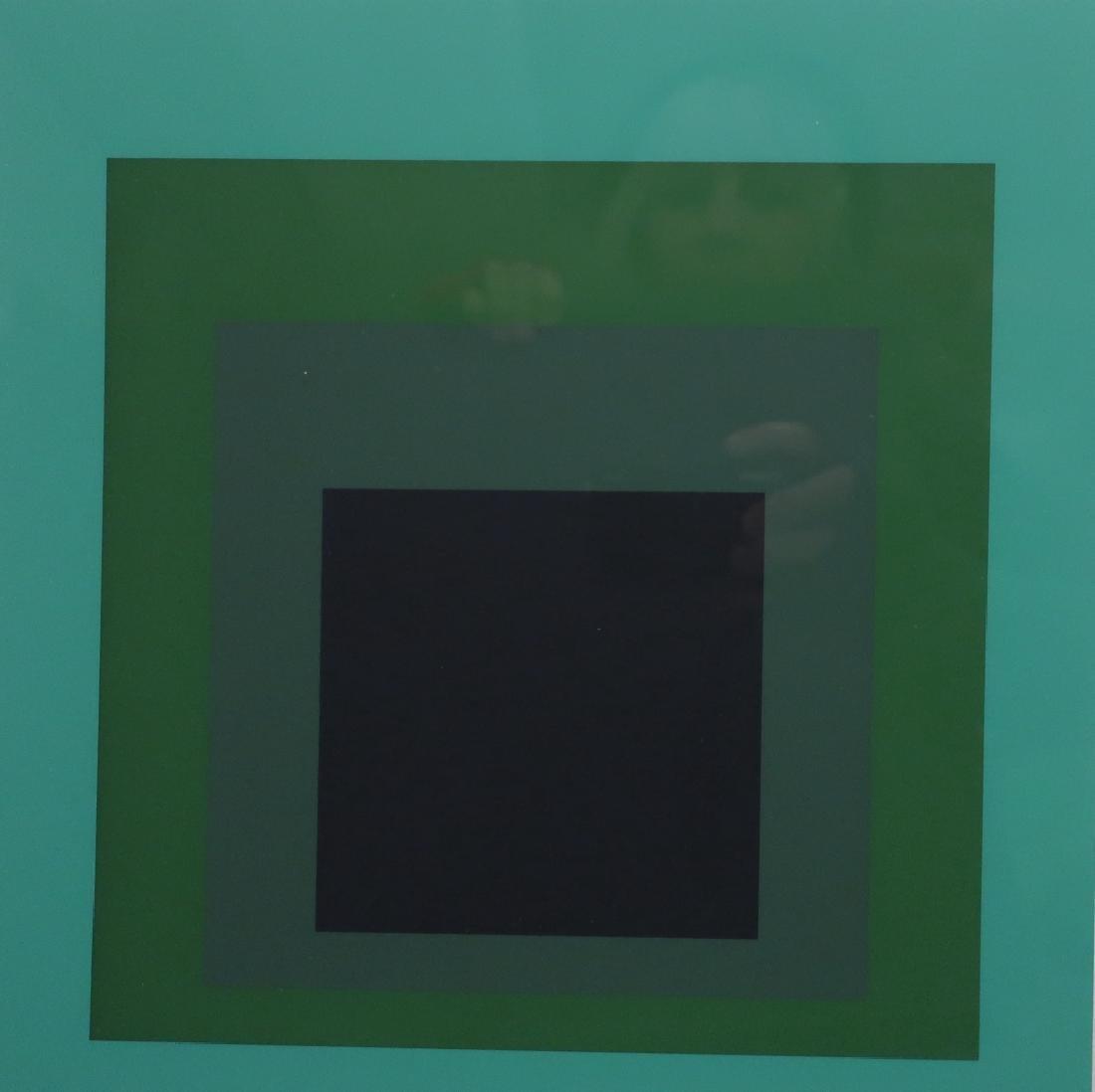 Josef Albers, 3 Silkscreens, Green/Black Squares