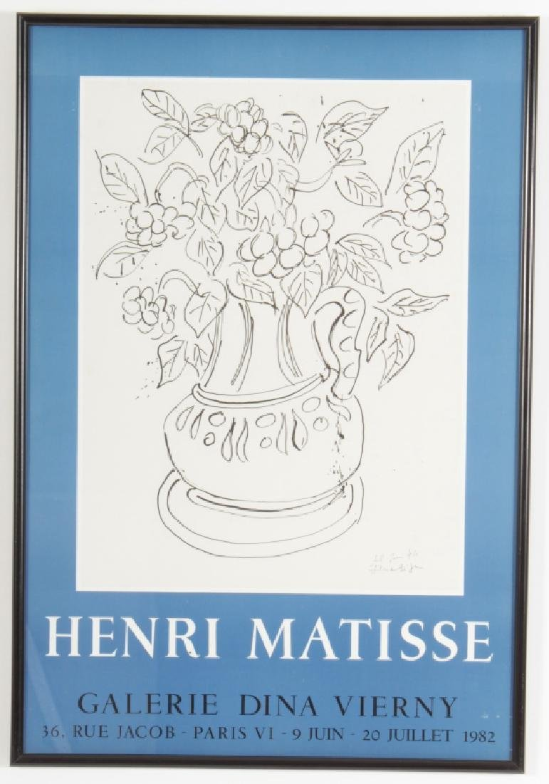 After Matisse, 1982 Exhibition Poster by Mourlot