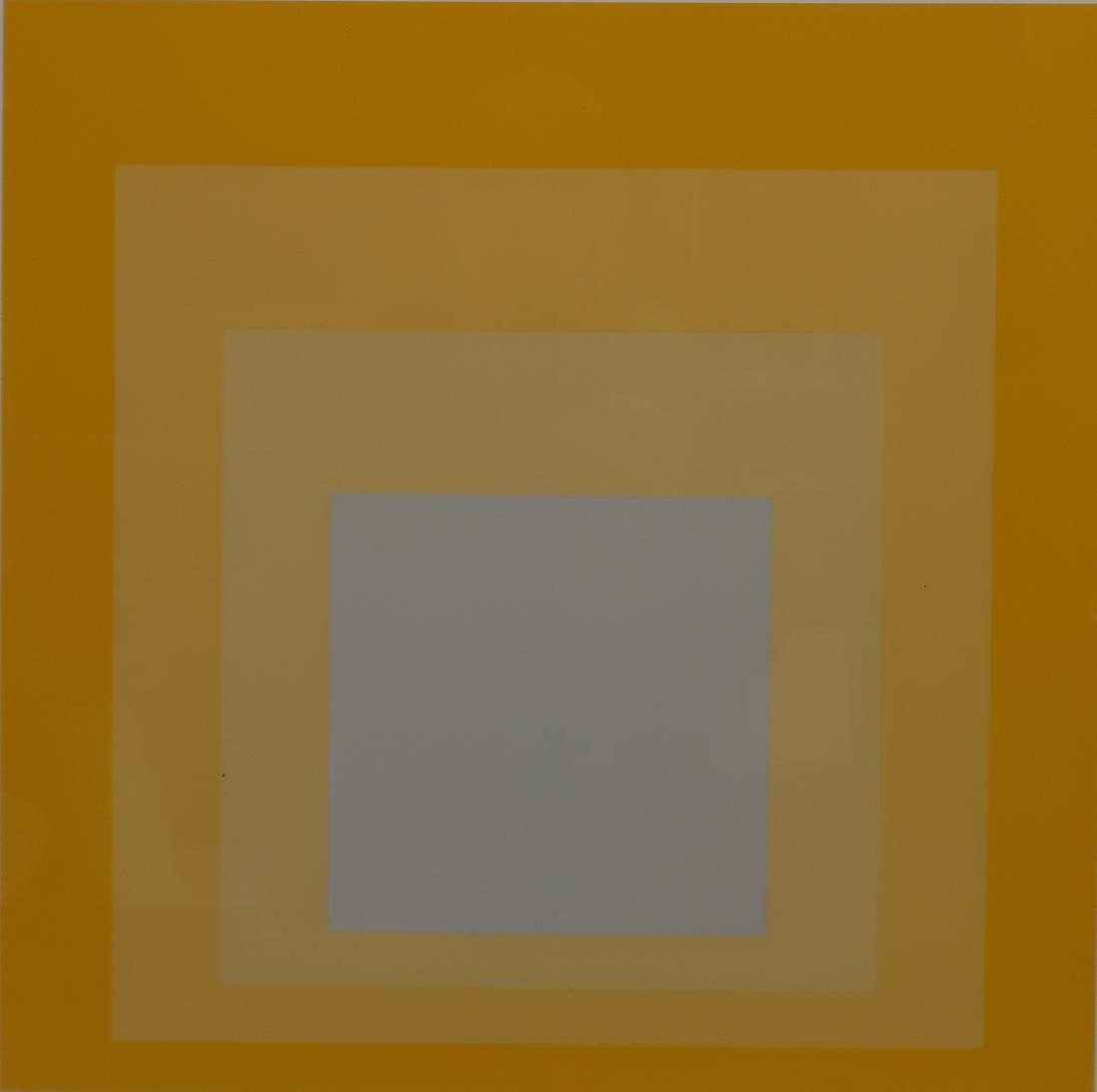 Josef Albers,Ger./Am., 2 Yellow Silkscreen Prints