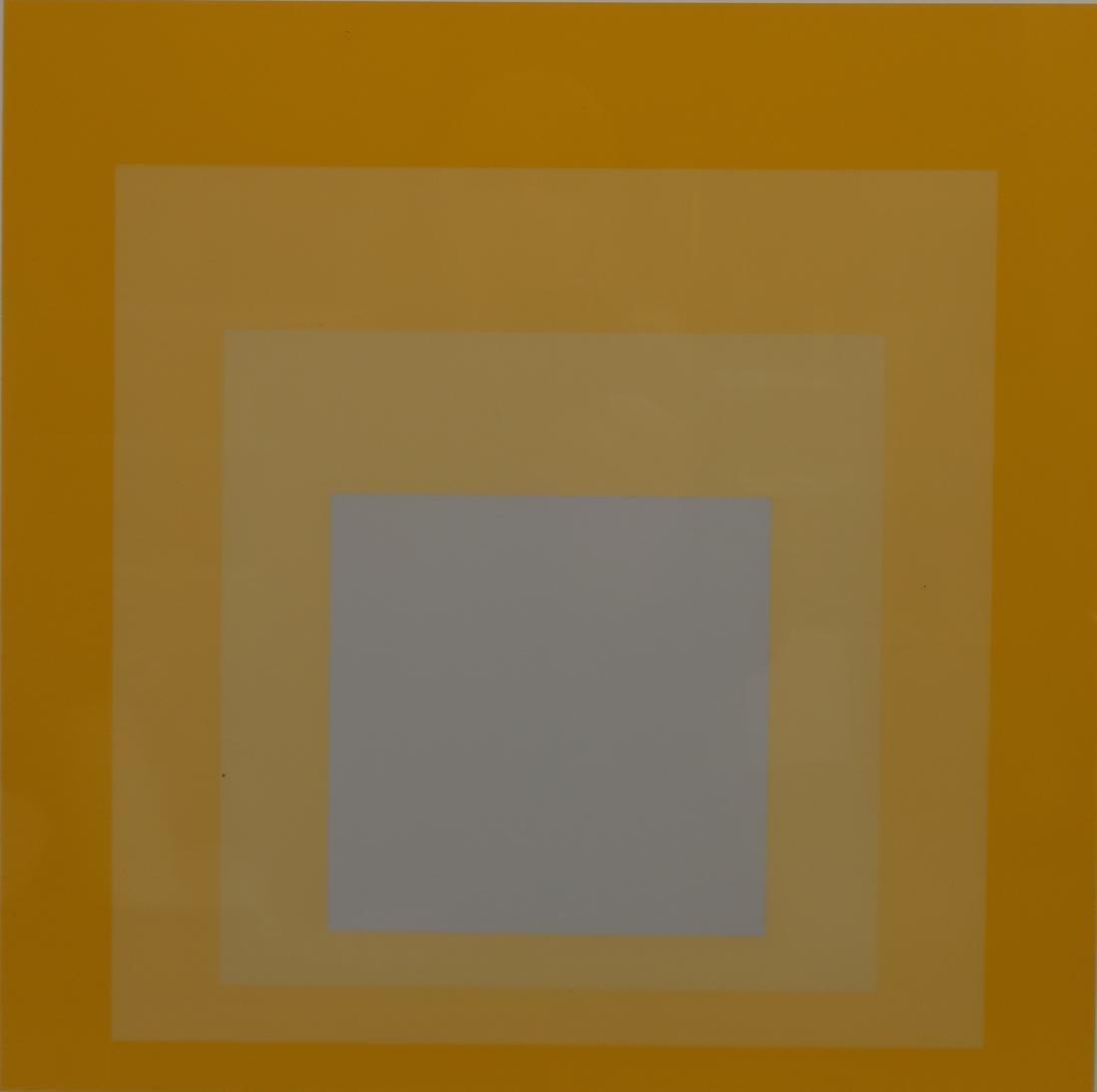 Josef Albers,Ger./Am., 2 Yellow Silkscreen Prints