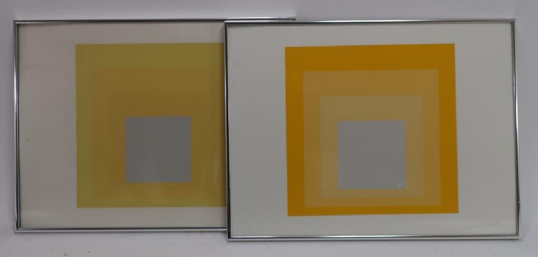 Josef Albers,Ger./Am., 2 Yellow Silkscreen Prints - 2