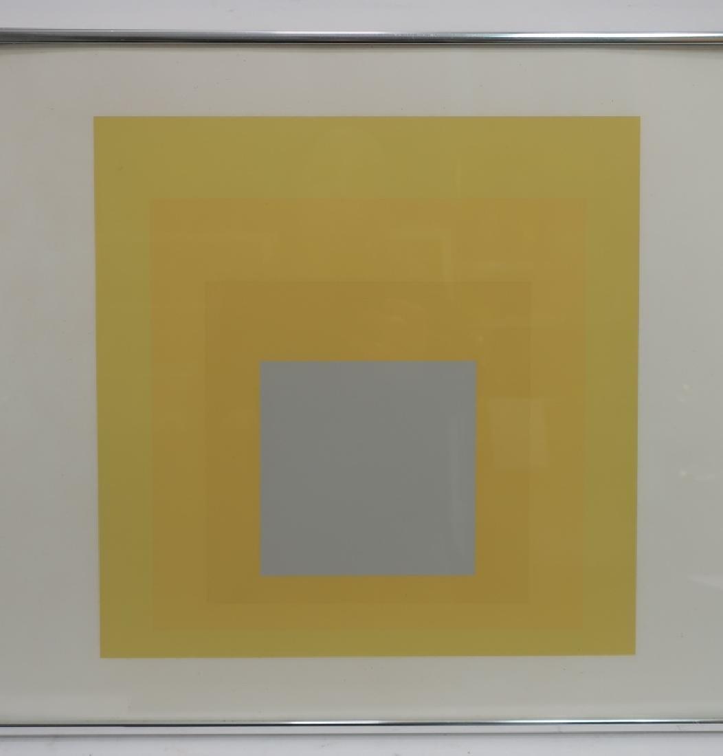 Josef Albers,Ger./Am., 2 Yellow Silkscreen Prints - 3