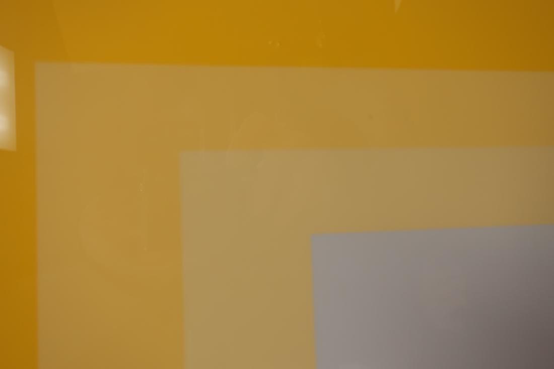 Josef Albers,Ger./Am., 2 Yellow Silkscreen Prints - 4