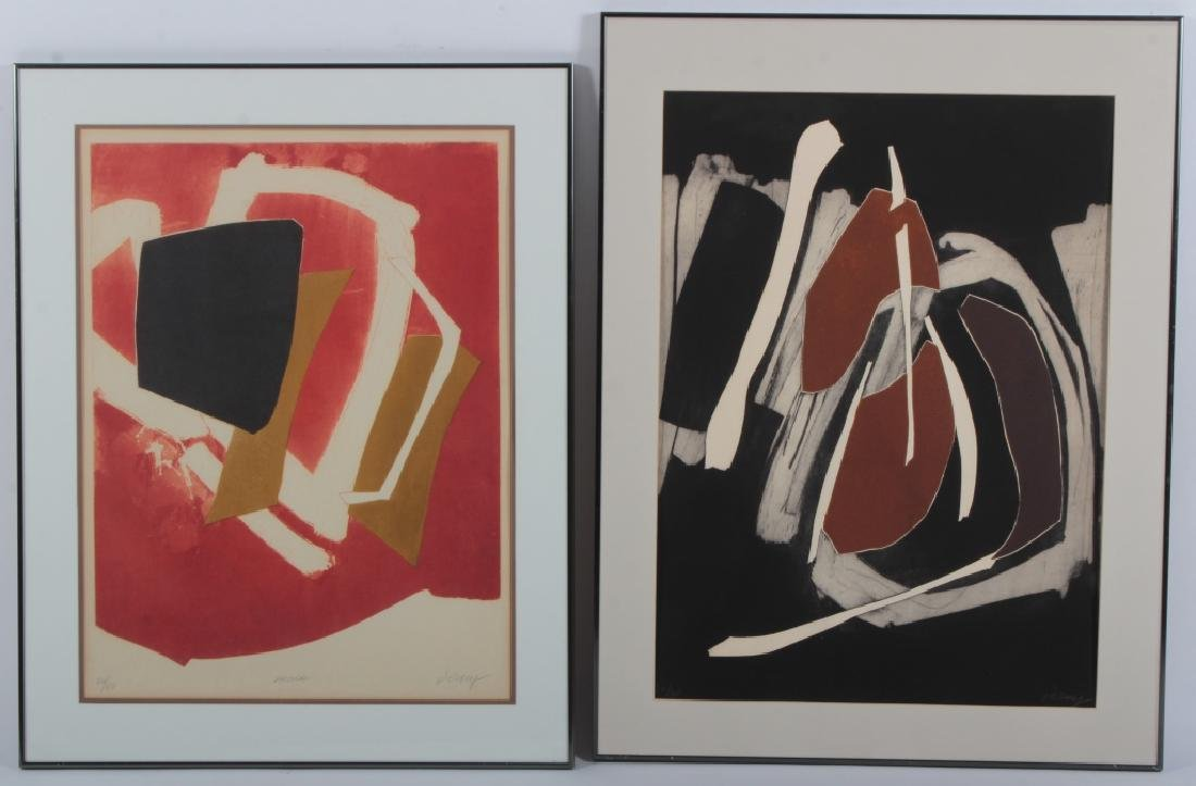 Bertrand Dorny, 2 Abstract Aquatints (red & black)