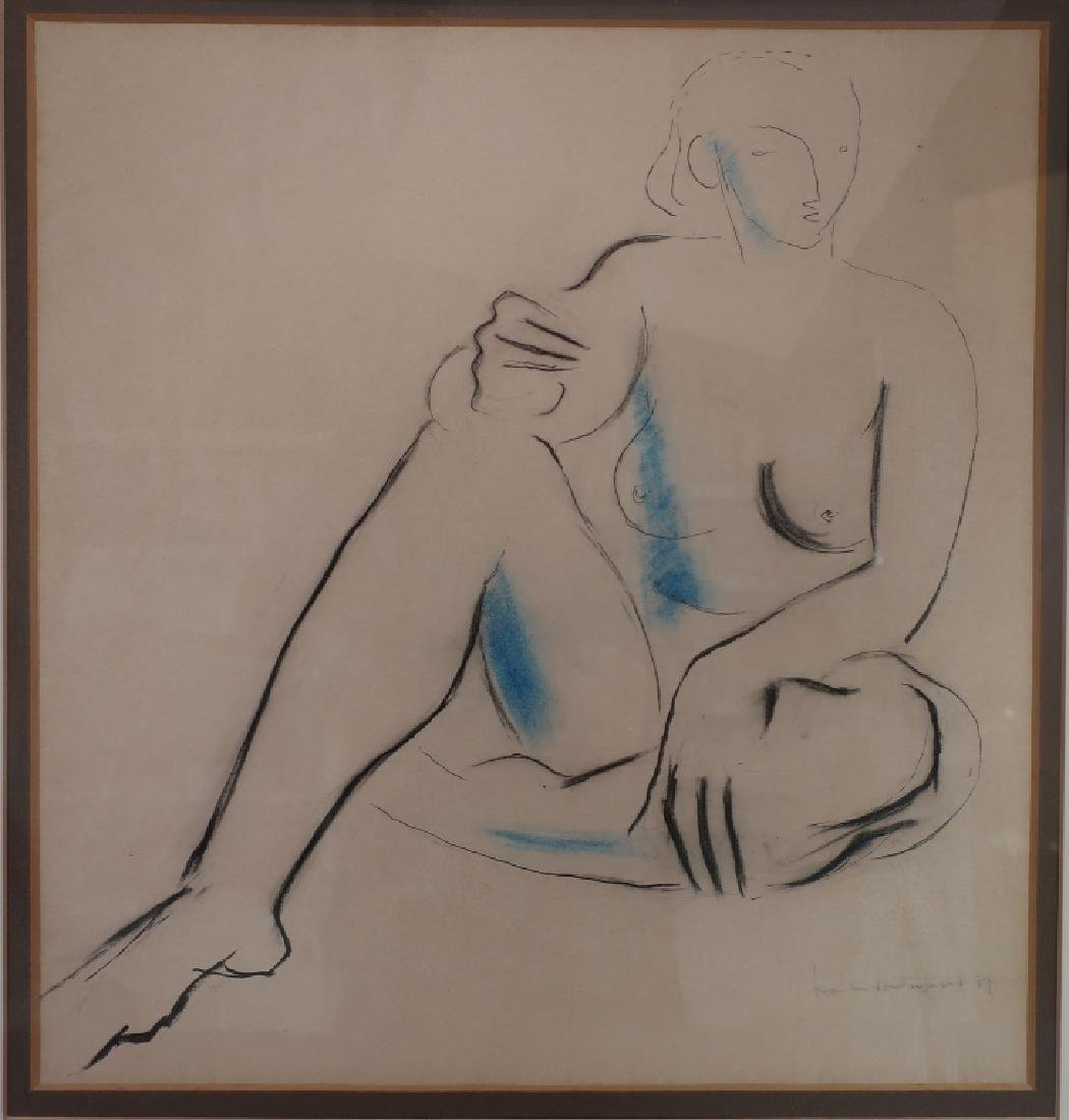 Francis Butterfield, UK, 1905-1968, Nude, '37, W/C