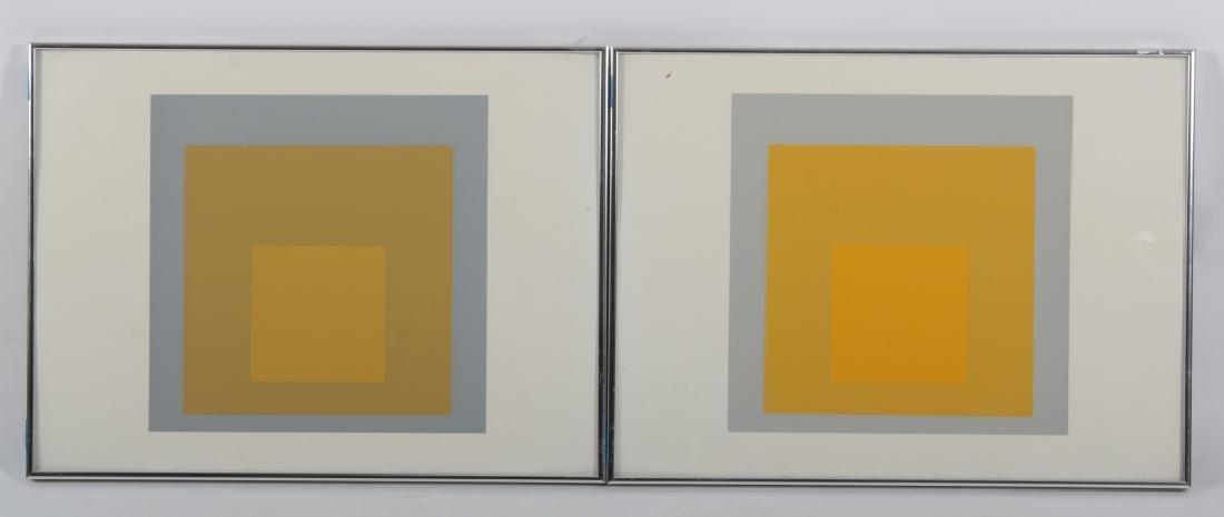 Josef Albers,Ger./Am., Grey/Yellow Squares